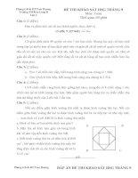 ĐỀ THI KHẢO SÁT HSG môn toán lớp 4