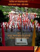 Lịch sử, truyền thống QĐND và CAND