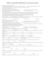 285 câu trắc nghiệm dao động điều hoà- CLLX  có đáp án