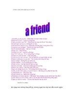 A FRIEND GIẢI THÍCH BẰNG 24 CHỮ CÁI