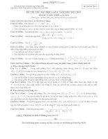ĐỀ THI THỬ ĐẠI HỌC LẦN 1 NĂM HỌC 2012- 2013 Môn thi : TOÁN, KHỐI A, A1, B, D