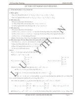 Tổng hợp câu hỏi phụ phần khảo sát hàm số 2013 ôn thi đại học