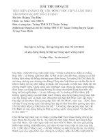 Thu hoạch về làm theo tấm gương đạo đức Hồ Chí Minh
