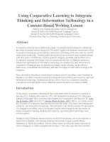Using Cooperative Learning to Integrate Thinking and Information Technology in a Content.doc