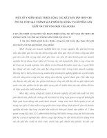 MỘT SỐ Ý KIẾN HOÀN THIỆN CÔNG TÁC KẾ TOÁN TẬP HỢP CHI PHÍ VÀ TÍNH GIÁ THÀNH SẢN PHẨM TẠI CÔNG TY CỔ PHẦN SẢN XUẤT VÀ THƯƠNG MẠI VIGLACERA