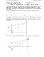 Bài toán dịch chuyển hệ vân giao thoa