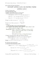 Đề cương ôn tập chương 1 ĐS&GT 11