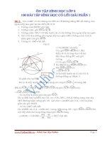 ÔN TẬP HÌNH HỌC LỚP 9 - 100 BÀI TẬP HÌNH HỌC CÓ LỜI GIẢI PHẦN 1