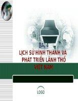 Bài 4: Sự hình thành và phát triển lãnh thổ Việt Nam