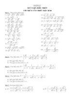 Các dạng toán tổng hợp