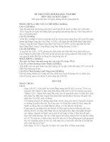 Đề thi và gợi ý môn sử ĐH Năm 2009