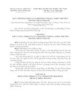 quy chế hoạt động của hội đồngthi đua khen thưởng