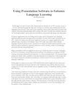 Using Presentation Software to Enhance Language Learning