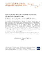 International Taxation and Multinational Firm Location Decisions