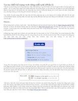 Tự tay thiết kế web miễn phí