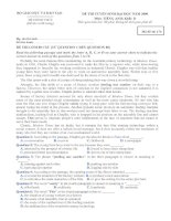 Đề và ĐA chính thức của Bộ GD (ĐH 2009)