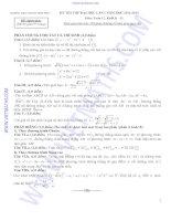 ĐỀ THI THỬ ĐẠI HỌC LẦN 1 NĂM HỌC 2012-2013 Môn Toán 12. Khối B -D TRƯỜNG THPT CHUYÊN VĨNH PHÚC