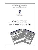 Trang bìa giáo trình Microsoft Word 2000