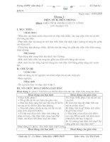 giáo án vật lí 11 cơ bản(từ tiết 1- tiết 6)