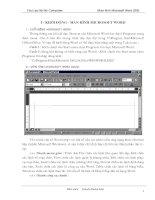 Giáo trình Microsoft Word 2000