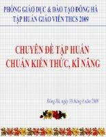 CHUAN KIEN THUC KI NANG VAT LI THCS