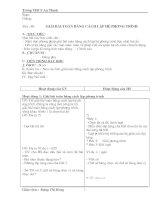 Giao an đai 9 chuong 3 ( 2 cột)