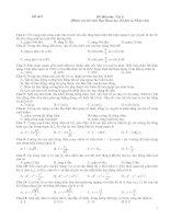 Đề thi môn Vật lí, đề số 9 (Dành cho thí sinh Ban Khoa học Xã hội và Nhân văn)