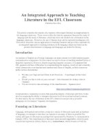 An Integrated Approach to Teaching Literature in the EFL Classroom