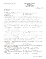 Kiểm tra 15 phút chương dao động cơ