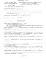 ĐỀ THI THỬ TUYỂN SINH ĐẠI HỌC NĂM 2013 – LẦN 3 Môn: TOÁN; Khối A, A1 và Khối B