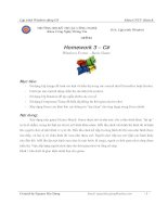 Homework 3 – C# Windows Forms – Basic Game