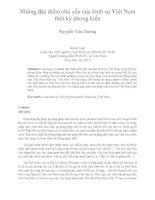 Những đặc điểm chủ yếu của hình sự Việt Nam  thời kỳ phong kiến