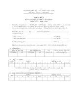 Mẫu Biên bản bàn giao hoc sinh đầu năm học