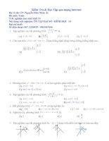 50 Câu trắc nghiệm Đại số và Hình học 10