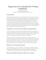 Suggestions for Evaluating ESL Writing Holistically.doc