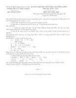 Đề thi chọn HSG vòng trường21-2011