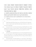 CÁC GIẢI PHÁP NHẰM HOÀN THIỆN CÔNG TÁC ĐÀO TẠO VÀ PHÁT TRIỂN NGUỒN NHÂN LỰC TẠI NGÂN HÀNG PHƯƠNG ĐÔNG CHI NHÁNH TRUNG VIỆT