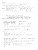 ôn tập toán chương 1 lớp 8