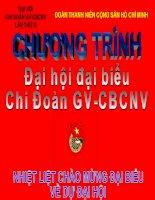 Chương trình Đại Hội chi Đoàn GV-CBCNV