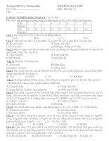 kiểm tra 1 tiết hóa 12- chương 1,2