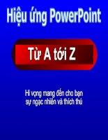 hiệu ứng power point