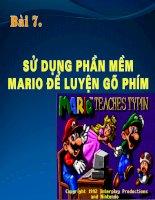 Bài 7_Sử dụng Mario để luyện gõ 10 ngón