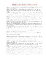 ôn tập và kiểm tra hình chương 1 lớp 12