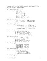 Các bài toán về đa thức và tứ giác