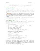 Giải toán Hóa học theo phương pháp tự chọn lượng chất