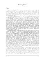 Bài giảng thứ tám