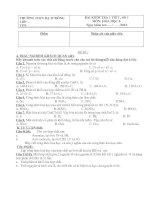 Đề kiểm tra 1 tiết(bài số 1)
