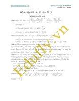 Đề ôn tập thi vào 10 năm 2013 Môn toán-Đề số 8