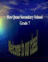 grade 7.language focus 1