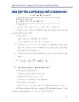 Bài tập Đại số 8 Chương I